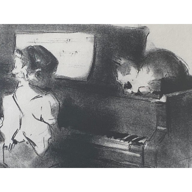 """Vintage Margery Austin Ryerson """"Child With Cat at the Piano"""" Lithograph For Sale In Washington DC - Image 6 of 10"""