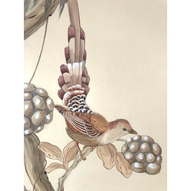 """Allison Cosmos Chinoiserie Style Bird Painting, """"Without Feather Ado"""" For Sale - Image 4 of 10"""