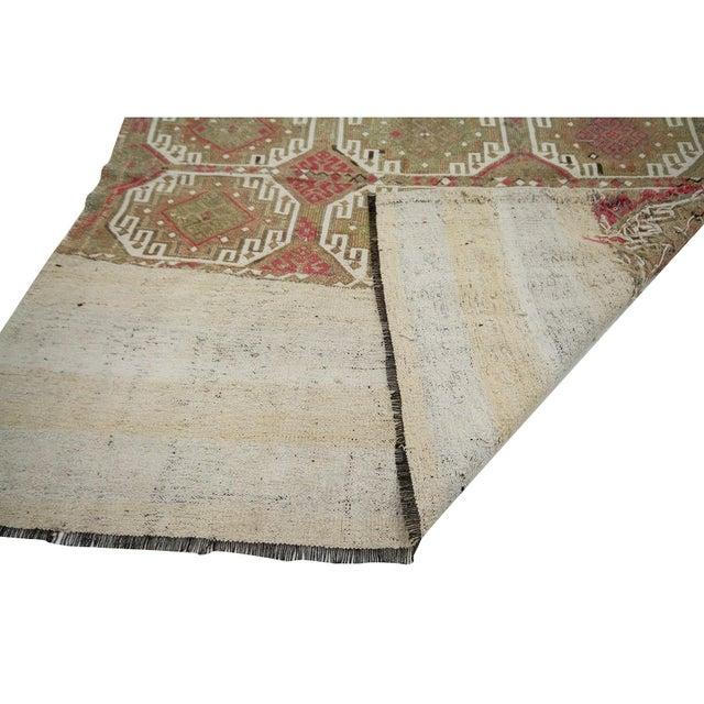 Mid 20th Century Vintage Turkish Decorative Kilim Rug- 5′2″ × 5′5″ For Sale - Image 5 of 7