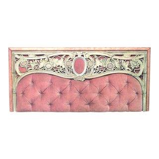 Art Nouveau Pink Velvet Wall Panel For Sale
