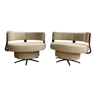 Pair of Vintage Swivel Chairs For Sale