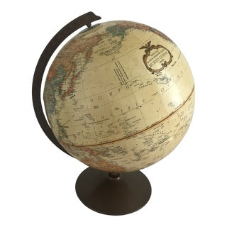 Antique Replogle Finish, Bronze Craft Board Globe For Sale