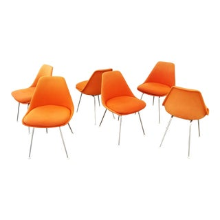 Eames Style Shell Chairs Set 6 For Sale
