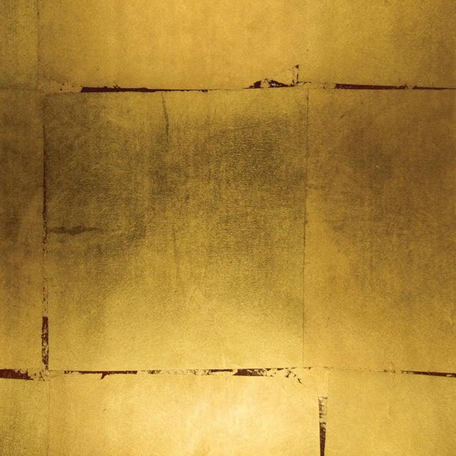 Sample, Maya Romanoff Precious Metals - Vermilion Gold - Hand-Inlaid Metal Leaf Wallcovering For Sale - Image 9 of 10