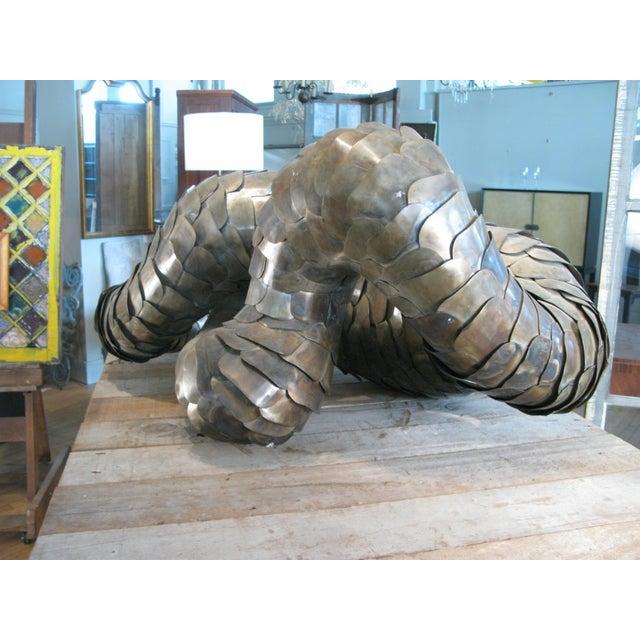 Metal Ad Infinitum' Sculpture by Artist Joseph Kurhajec For Sale - Image 7 of 11