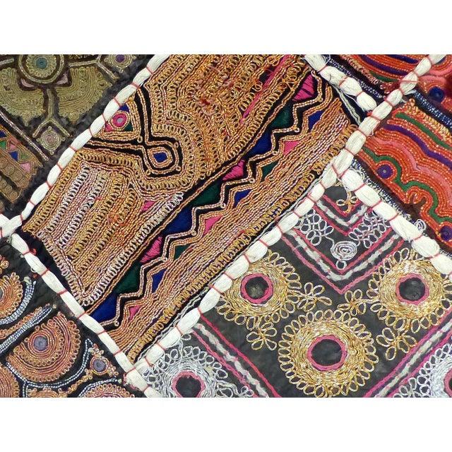 Antique Indian Wedding Saree Quilt For Sale In Miami - Image 6 of 9
