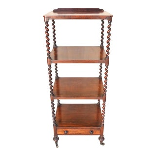 English Victorian Mahogany Etagere For Sale