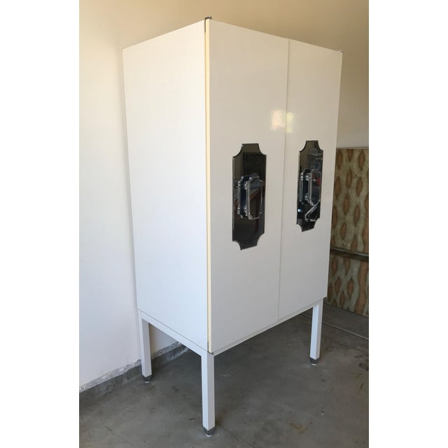 Custom Large White Cabinet for Viceroy Palm Springs For Sale - Image 4 of 10