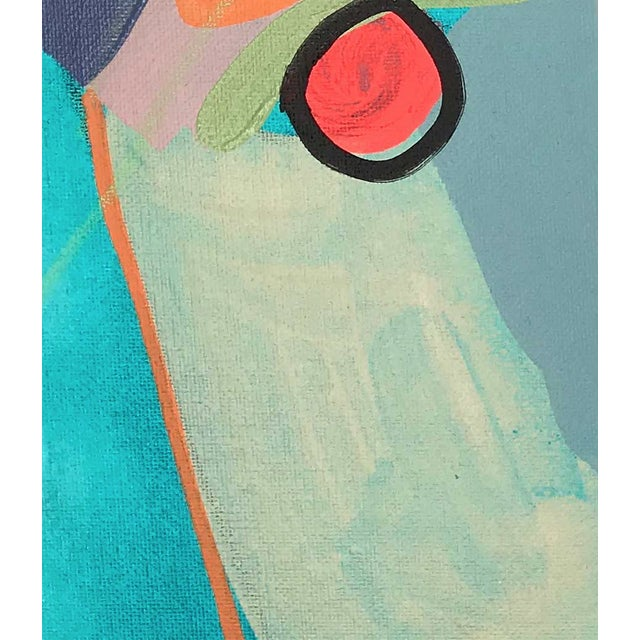 "Contemporary Abstract Portrait Painting ""Let's Chat, No. 2"" For Sale - Image 4 of 7"