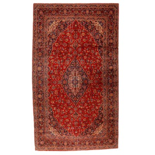 Antique Oversize Persian Kashan Carpet