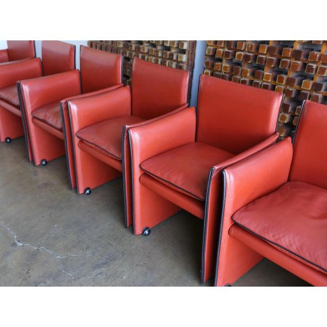 Atelier International Late 20th Century Mario Bellini 'Break' Armchairs - Set of 6 For Sale - Image 4 of 13