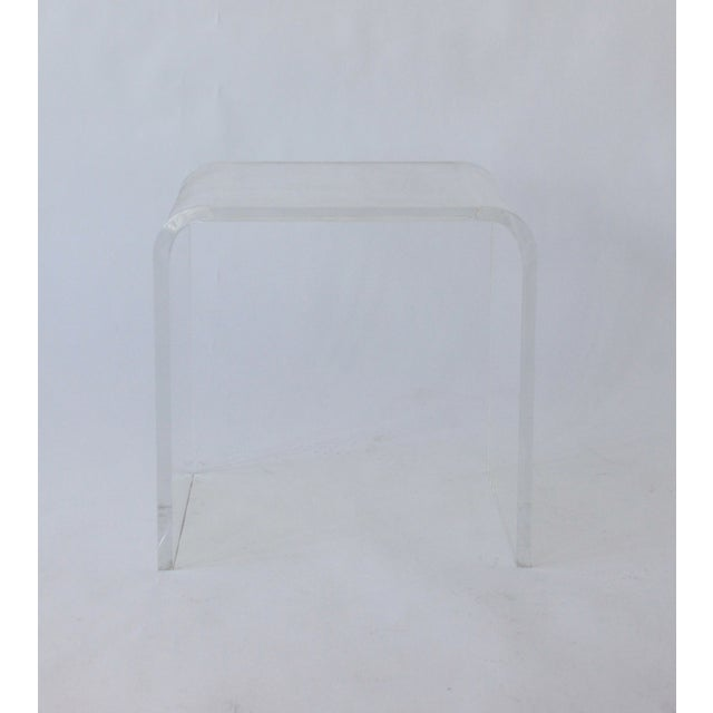 Vintage Lucite Side Table - Image 3 of 5