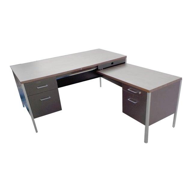 Steelcase Style Mid-Century Desk - Image 1 of 4