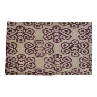 Purple Silk Velvet Accent Pillow For Sale