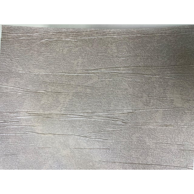 Brushed Taupe Wallcovering For Sale - Image 4 of 5