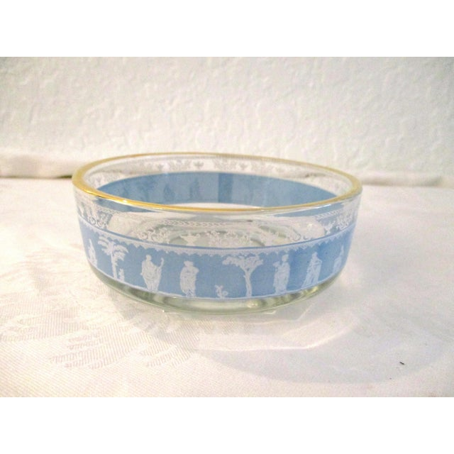 Jeannette Glass Mid-Century Blue Grecian Bowls- A Pair For Sale - Image 4 of 7