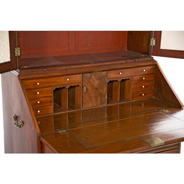 Mid 18th Century Mid 18th Century Georgian Secretaire Bookcase For Sale - Image 5 of 8
