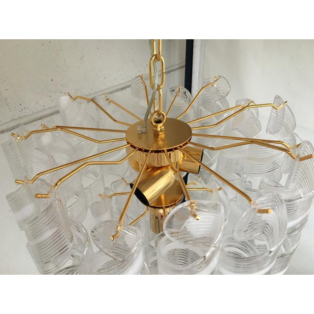 "Contemporary Vintage Murano Glass ""Spirale"" Chandelier For Sale - Image 11 of 12"