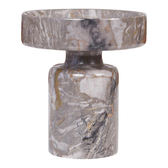 Angelo Mangiarotti Double Sided Marble Vase for Knoll For Sale
