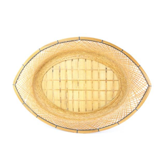 Mid-Century Wicker Tray - Image 1 of 5