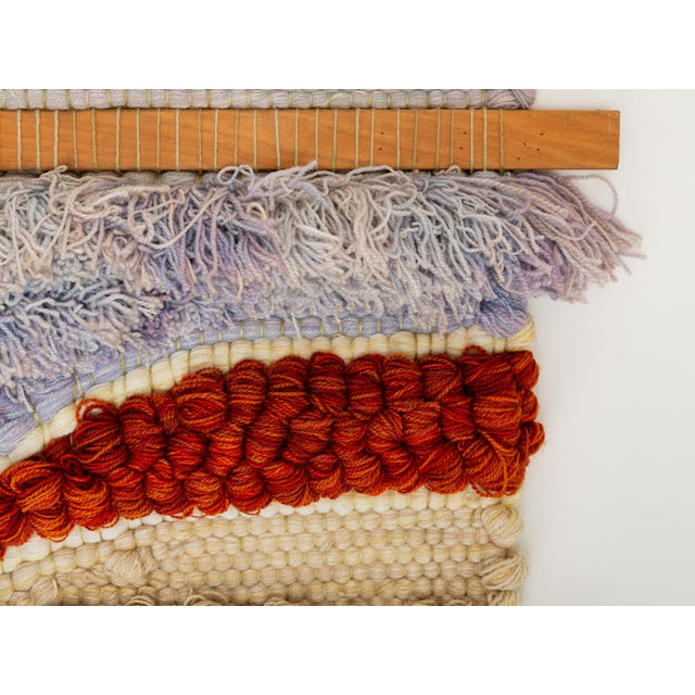 Boho Chic California Fiber Arts Wall Hanging by Margo O'Connor For Sale - Image 3 of 8