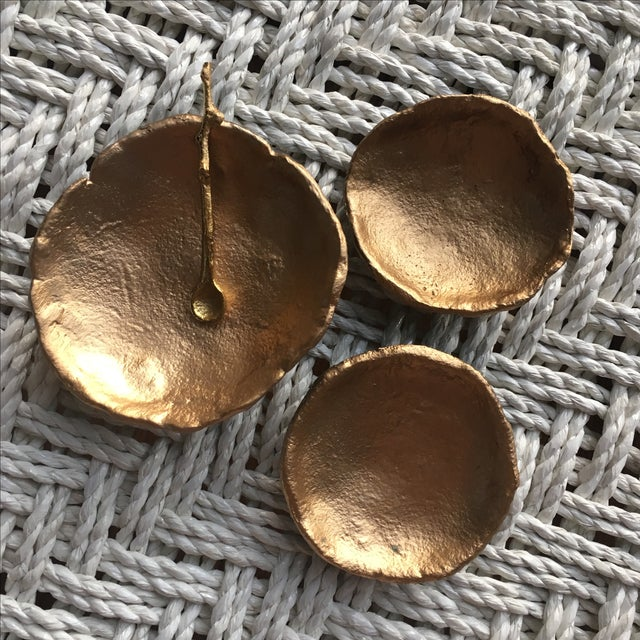 3-Piece Gold Nesting Bowls with Spoon - Image 2 of 5
