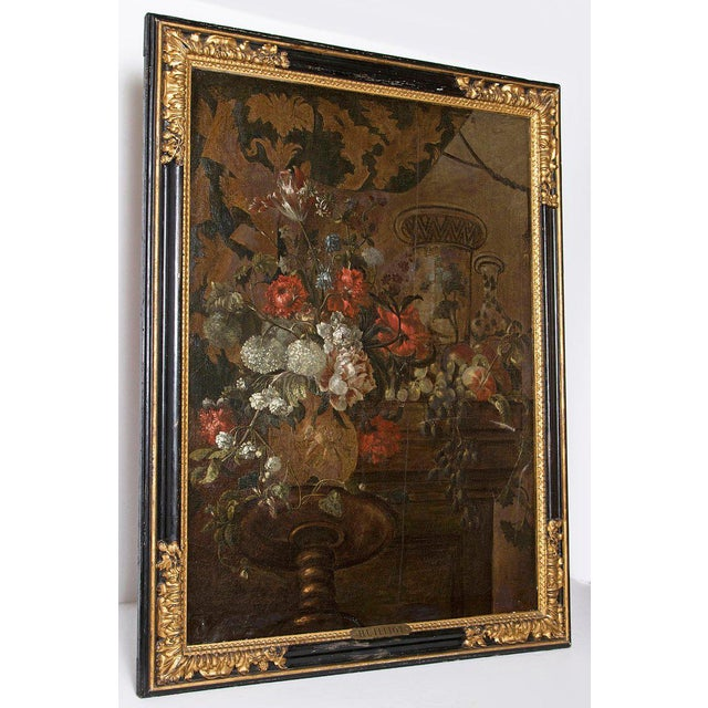 Baroque Early 20th Century Oil on Canvas in Manner of Pierre Nicolas Huilliot For Sale - Image 3 of 13