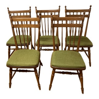 Tell City Dining Chairs - Set of 5 For Sale
