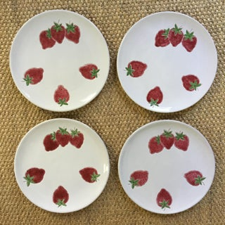 Italian Strawberry Motif Plates - Set of Four Preview