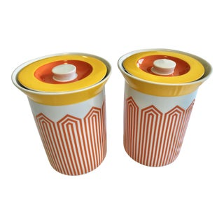 Jonathan Adler Happy Chic Canisters - a Pair For Sale