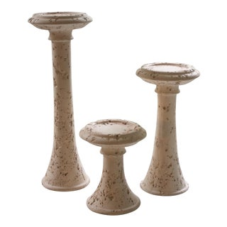 Set of 3 Vintage Jaru Pillar Candle Holders For Sale
