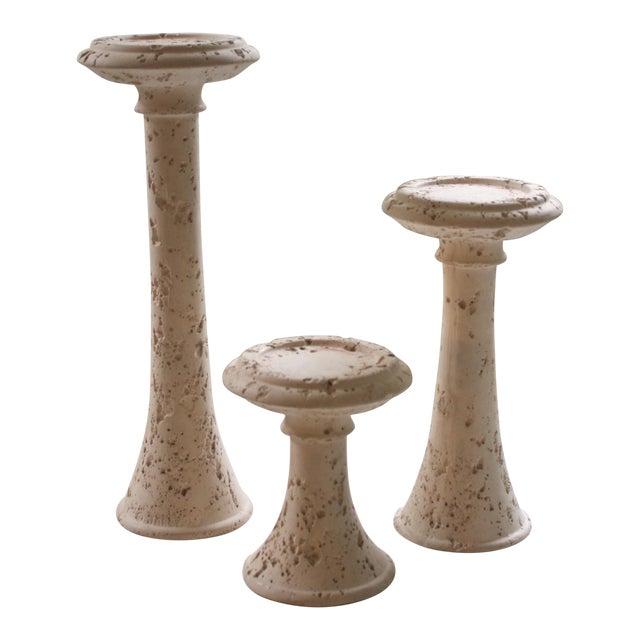 Set of 3 Vintage Jaru Pillar Candle Holders For Sale