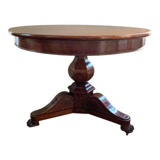 Swedish Round Mahogany Table For Sale