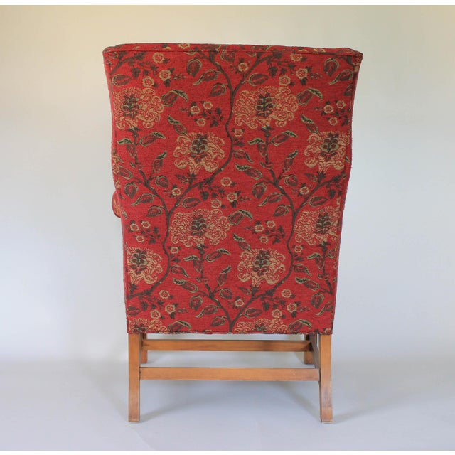 Upholstered Wingback Chair For Sale - Image 10 of 11