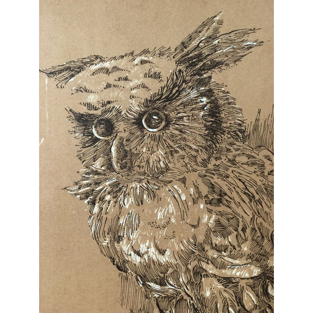 Midcentury Owl Lithograph by Z. Charlotte Sherman For Sale - Image 4 of 8