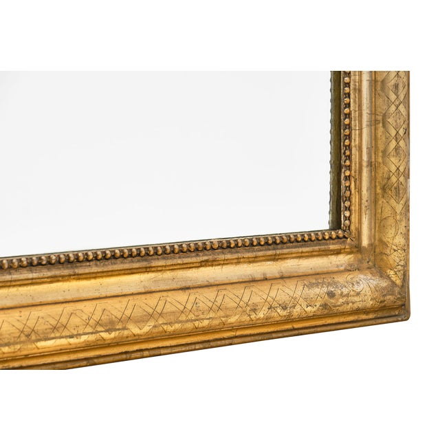 Gold Antique French Louis Philippe Period Mirror For Sale - Image 8 of 10