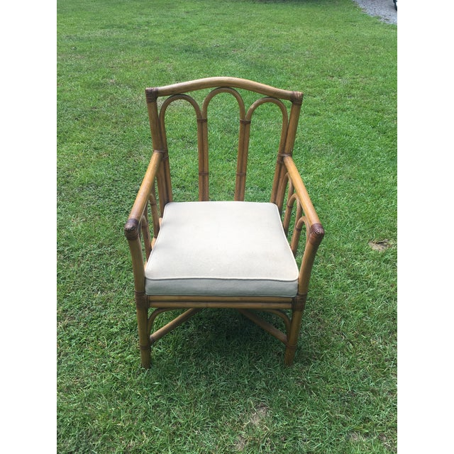 Shelby Williams Vintage Shelby Williams Rattan Armchair For Sale - Image 4 of 8