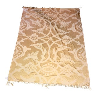 Barbara Barry Realized by Henredon Gold Poetical Throw For Sale