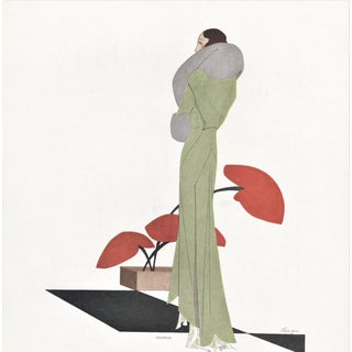 French Art Deco Fashion Print For Sale