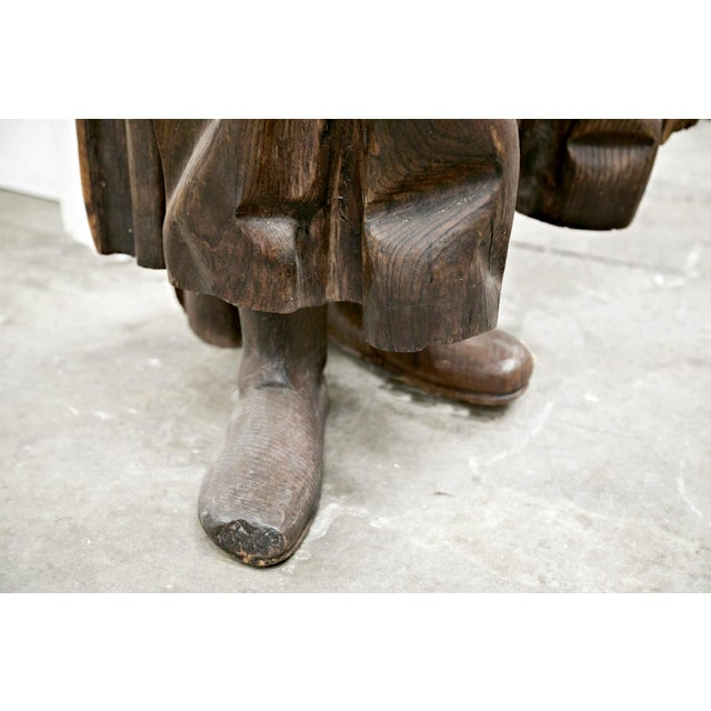 18th Century Life Size Carved Wood Statue of St. Joseph For Sale - Image 9 of 10