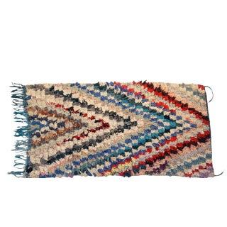 """Vintage Boucherouite Carpet - 5'11"""" X 3'2"""""""