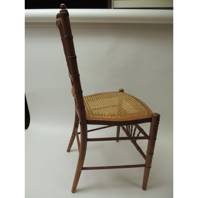 19th Century English Bamboo and Rattan Ballroom Chair For Sale In Miami - Image 6 of 9