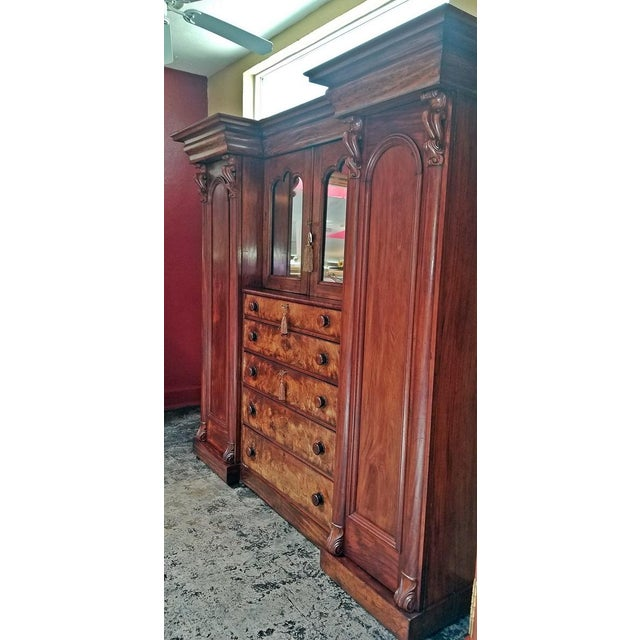 Early 19th Century British Mahogany Gothic Revival Wardrobe For Sale - Image 11 of 13