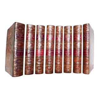 Early 19th Century Decorative Volume Set, Clarendon's the History of the Rebellion and Civil Wars in England - 8 Books For Sale
