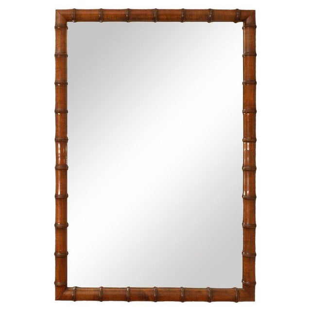 1970s 1970s Vintage Bamboo Mirror For Sale - Image 5 of 5