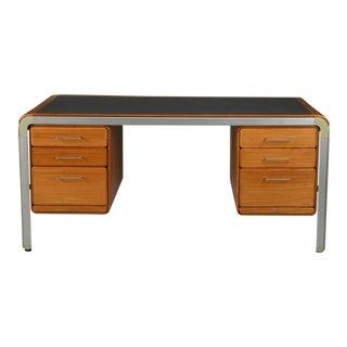 Custom Desk by Arne Jacobsen for Fritz Hansen for the Danish National Bank For Sale