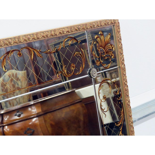 Regency Style Eglomise Mirror For Sale - Image 4 of 6