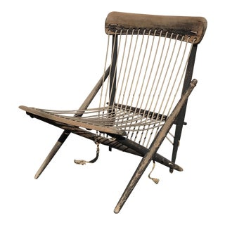 1950s Vintage Maruni Rope Chair For Sale