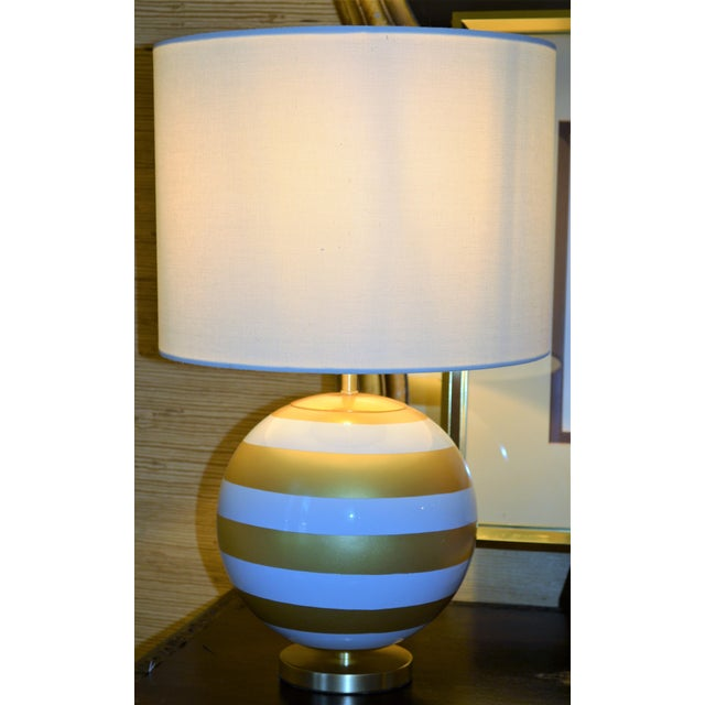 Gold & Cream Kate Spade Table Lamp For Sale - Image 4 of 10