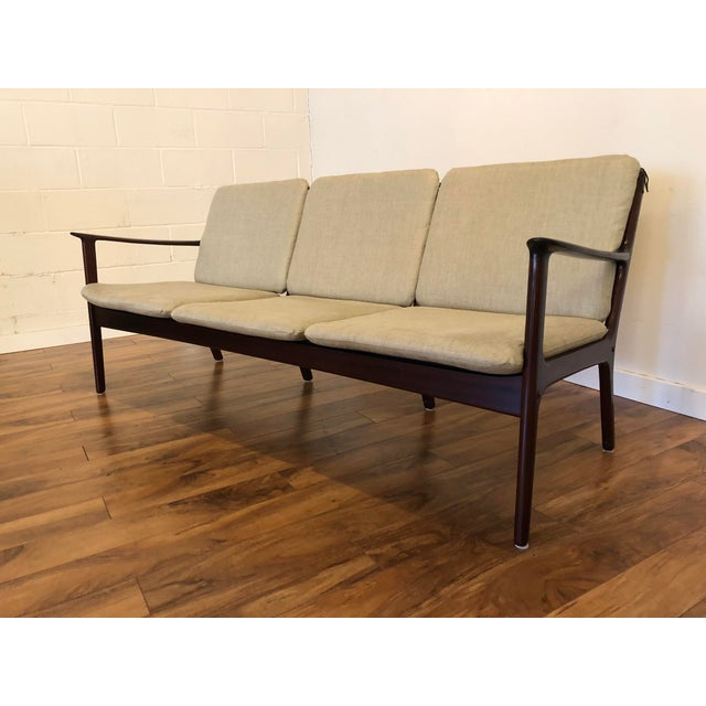 Vintage Mid Century Modern Sofa by Ole Wanscher for Poul Jeppesen For Sale - Image 13 of 13